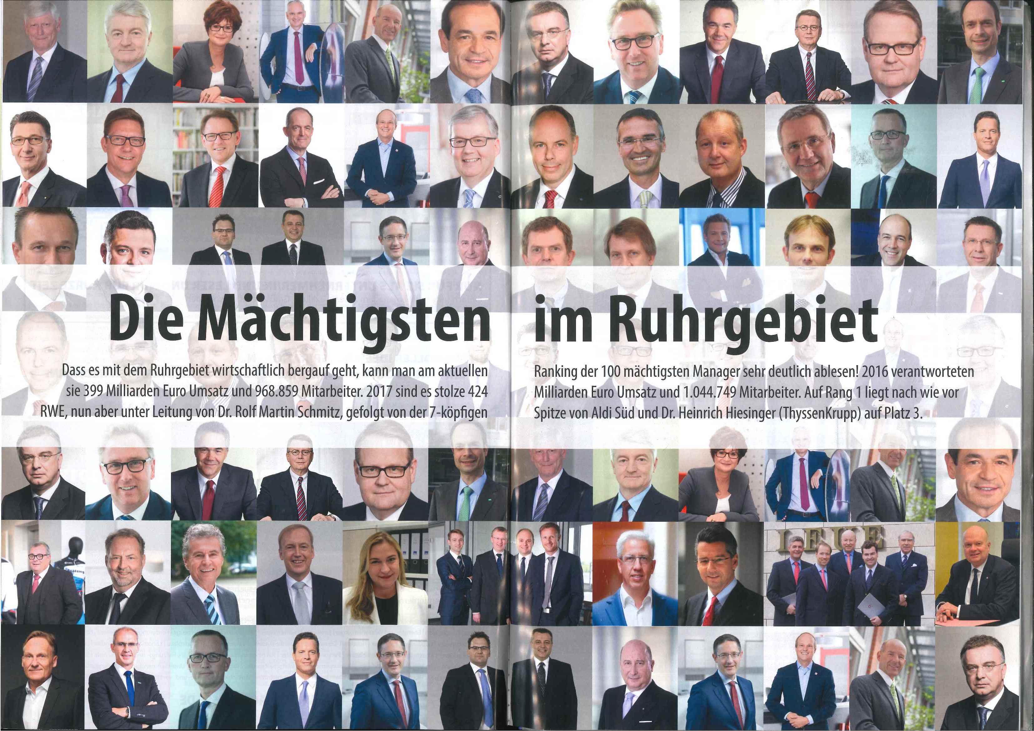 Die mächtigsten Manager im Ruhrgebiet.